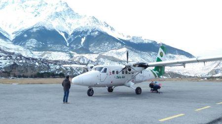 जोमसोम विमानस्थलको स्तरोन्नति शुरु