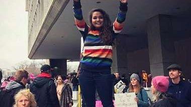 अमेरिकामा नेपाली दूतावासकी कर्मचारी ट्रम्पविरोधी जुलुसमा