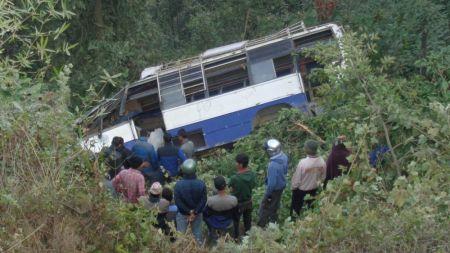 वागलुङमा बस दुर्घटना, १४ जना घाइते, दुईका अवस्था गम्भीर