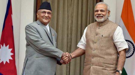 भारतीय प्रधानमन्त्री मोदी र प्रधानमन्त्री ओली बिच टेलिफोन संवाद