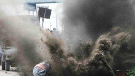 चौधरी उद्योग ग्राम परिसरमा बम बिस्फोट