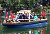 बंगलादेशी राष्ट्रपति हमिद पोखराको फेवातालमा