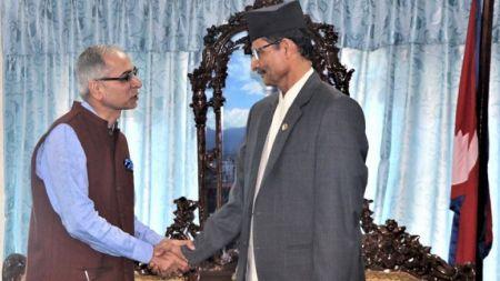 सभामुख सापकोटा र भारतीय राजदूत क्वात्राबीच भेट