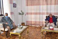 लावालस्करसहित प्रधानमन्त्री ओली देउवा निवासमा