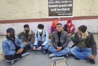 नेपाल-चीन सिमास्तम्भहरूको जिपिएस लोकेशन सार्वजनिक गर्न माग गर्दै धर्ना